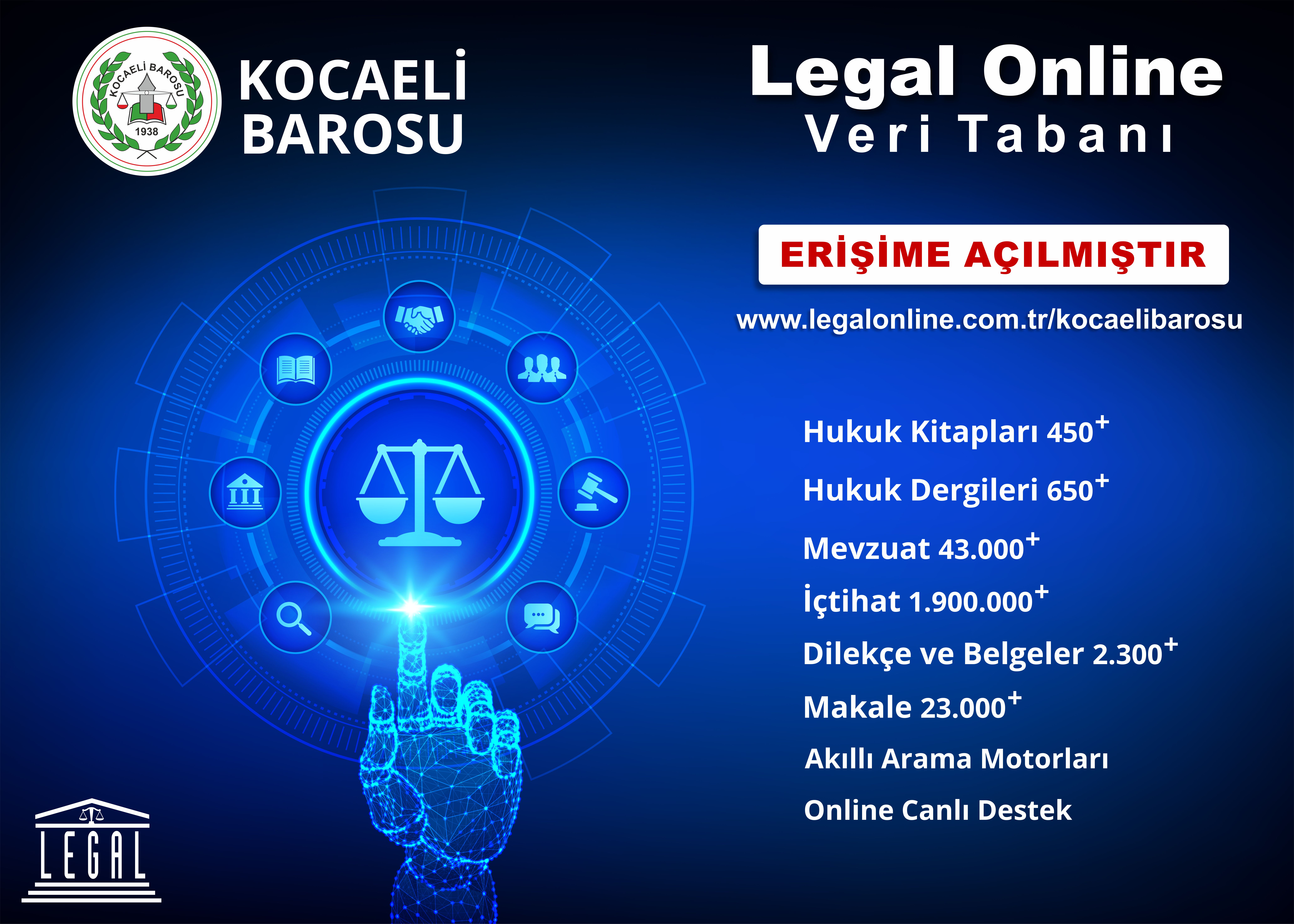 LEGAL ONLİNE VERİ TABANI